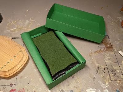 3x5 Scalloped Rectangle - Grass Mix - Template A - Martha Bechtel - Model Horse Base - Box
