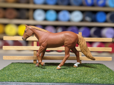 7 inch Oak - Template A Stablemate Scale Model Horse - portrait