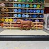 9 inch Oak - Template D Stablemate Scale Model Horse Fence - with model