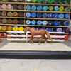 9 inch White - Template A Stablemate Scale Model Horse Fence - with model