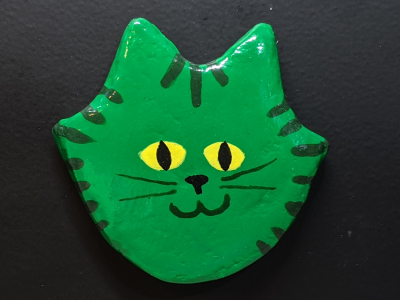 Flat Cat Head Magnet 017 - Gallery Image