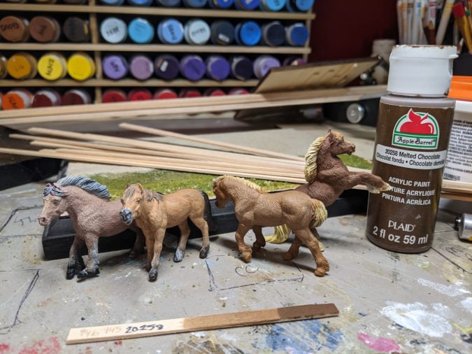 Passel of new in progress Safari ponies