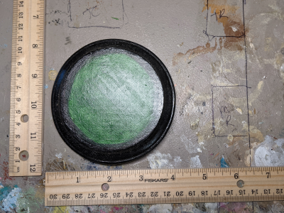 3x5 Model Horse Base Circle - Sand and Grass - Martha Bechtel - Scale