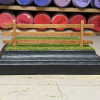 4 inch Square Grass Base with Fence - Micro Mini Scale - Back