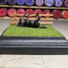 4 inch Square Grass Base with Fence - Micro Mini Scale - Maggie Scale