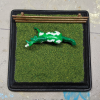4 inch Square Grass Base with Fence - Micro Mini Scale - Top