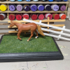 5x7 Model Horse Base - Sand and Grass - Martha Bechtel - Fence Examples