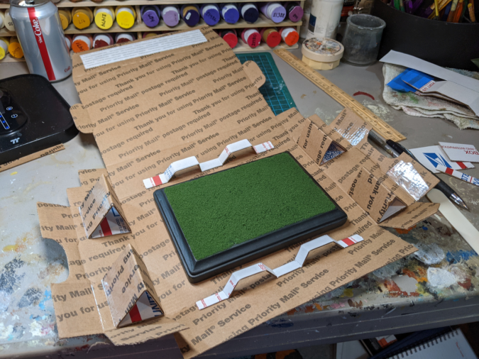 This is the shipping (and storage) box for the 5x7 model horse bases.