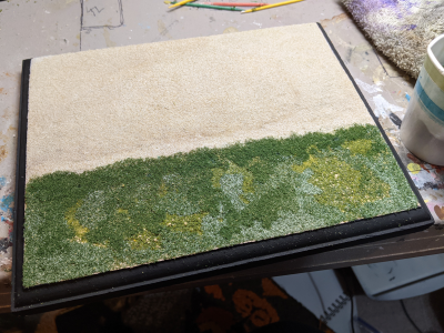 7x9 Model Horse Base - Sand and Grass - Martha Bechtel - Example 2