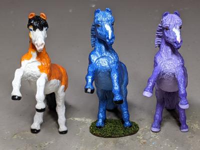 Custom Safari Ltd TOOB Rearing Pony - Martha Bechtel - Fantasy Tio