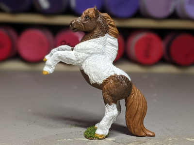 Rusty - Custom Safari Ltd TOOB Rearing Pony - Martha Bechtel - Portrait