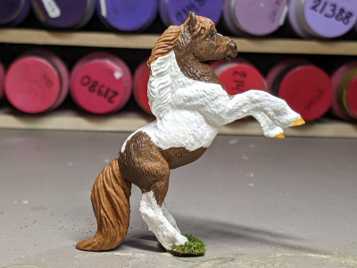 Rusty - Custom Safari Ltd TOOB Rearing Pony - Martha Bechtel - Right