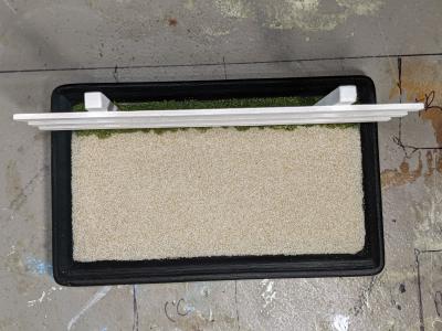 3x5 Rectangle - Sand Grass - TempA - Martha Bechtel - Model Horse Base - Fence Top View