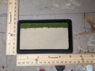 3x5 Rectangle - Sand Grass - TempA - Martha Bechtel - Model Horse Base - Scale