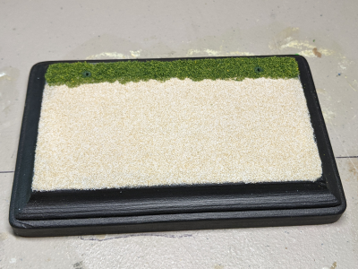 3x5 Rectangle - Sand Grass - TempA - Martha Bechtel - Model Horse Base - Top