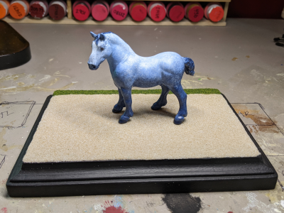 5x7 Rectangle - Sand Grass - TempA - Martha Bechtel - Model Horse Base - Horse