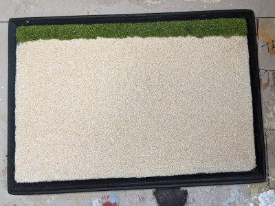 5x7 Rectangle - Sand Grass - TempA - Martha Bechtel - Model Horse Base - Top