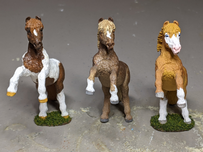 Custom Safari Ltd TOOB Rearing Pony - Martha Bechtel - Realistic Trio