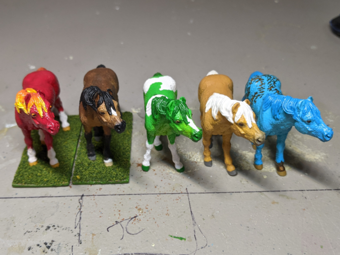Custom Safari Ltd TOOB Standing Pony - Martha Bechtel - Workbench Conga