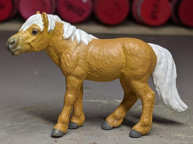 Daisy Mae - Custom Safari Ltd TOOB Standing Pony - Martha Bechtel - Left