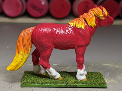 Ember - Custom Safari Ltd TOOB Standing Pony - Martha Bechtel - Right