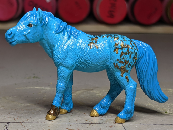 Faux Me Twice - Custom Safari Ltd TOOB Standing Pony - Martha Bechtel - Left