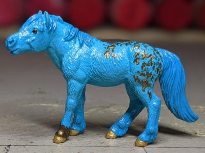 Faux Me Twice - Custom Safari Ltd TOOB Standing Pony - Martha Bechtel - Portrait
