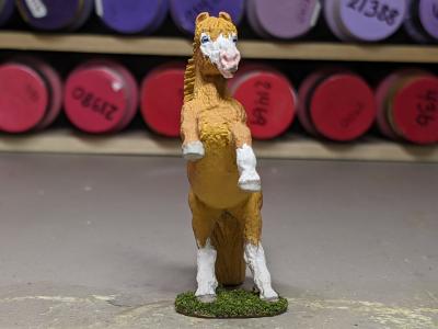 Flash - Custom Safari Ltd TOOB Rearing Pony - Martha Bechtel - Front