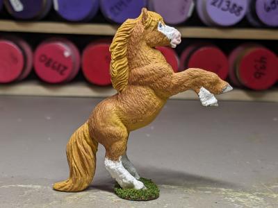 Flash - Custom Safari Ltd TOOB Rearing Pony - Martha Bechtel - Right