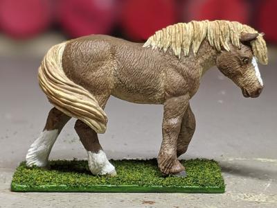 Ginger - Custom Safari Ltd TOOB Walking Pony - Martha Bechtel - Portrait