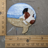 Leaping Horse 012 Magnet - Bay Tobiano on beach speach bubble - Martha Bechtel - Scale