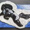 Leaping Horse Magnet 016 - Black Appaloosa - Martha Bechtel - Front