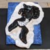 Leaping Horse Magnet 016 - Black Appaloosa - Martha Bechtel - Tail