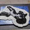 Leaping Horse Magnet 016 - Black Appaloosa - Martha Bechtel - Tummy