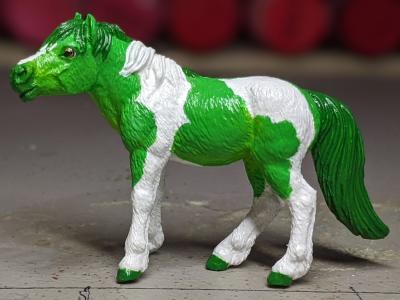 Lucky - Custom Safari Ltd TOOB Standing Pony - Martha Bechtel - Portrait