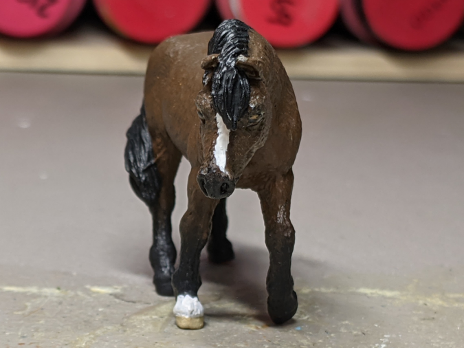 Maddy - Custom Safari Ltd TOOB Walking Pony - Martha Bechtel - Nose