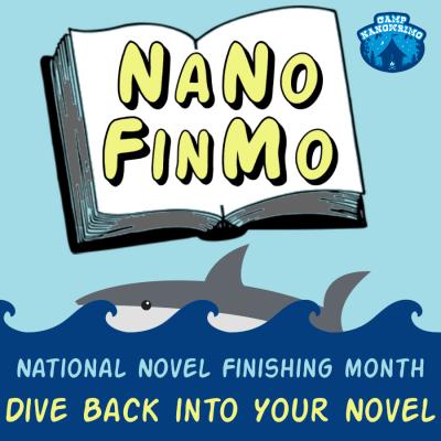 April Camp NaNoWriMo - NaNoFinMo square writing badge