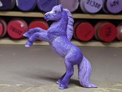 Petunia - Custom Safari Ltd TOOB Rearing Pony - Martha Bechtel - Left