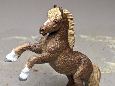 Socks - Custom Safari Ltd TOOB Rearing Pony - Martha Bechtel - Headshot