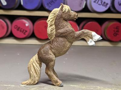 Socks - Custom Safari Ltd TOOB Rearing Pony - Martha Bechtel - Right