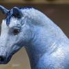 Thorsday Blues - Custom Breyer Stablemate G4 Drafter - Martha Bechtel - Headshot