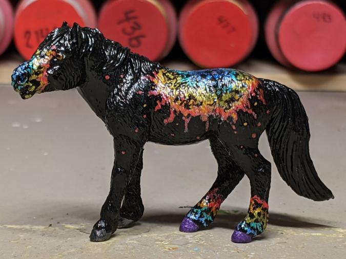 Andromeda - Custom Safari Ltd TOOB Standing Pony - Martha Bechtel - Left Dark