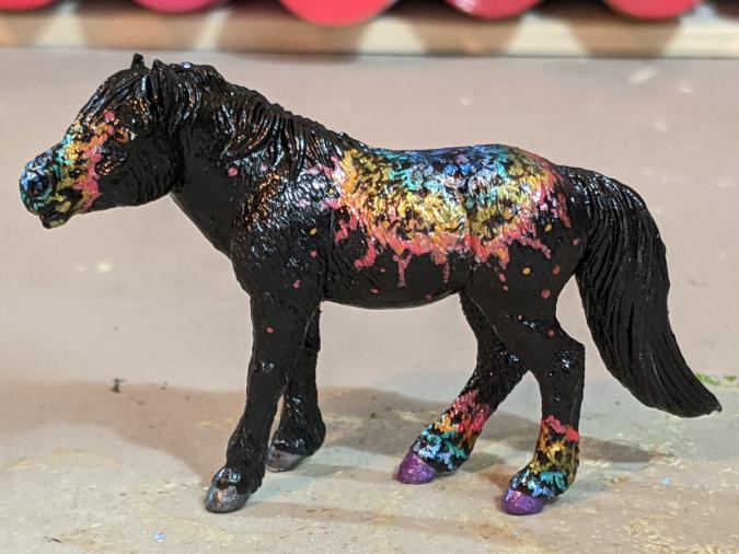Andromeda - Custom Safari Ltd TOOB Standing Pony - Martha Bechtel - Left Light