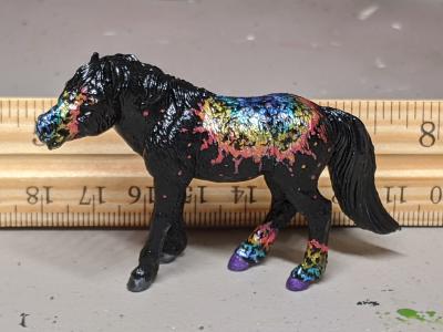 Andromeda - Custom Safari Ltd TOOB Standing Pony - Martha Bechtel - Scale