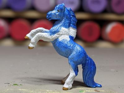 Aurora - Custom Safari Ltd TOOB Rearing Pony - Martha Bechtel - Portrait