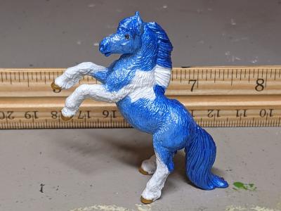 Aurora - Custom Safari Ltd TOOB Rearing Pony - Martha Bechtel - Scale