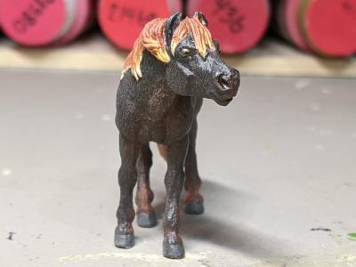 Bailey - Custom Safari Ltd TOOB Standing Pony - Martha Bechtel - Nose