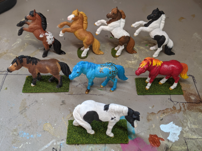 Custom Safari Ltd TOOB Ponies - Martha Bechtel - Small Herd