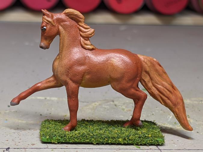 Flamewars - Custom Breyer Mini Whinnie Trotting Morgan Stallion - Martha Bechtel - Left
