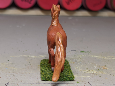 Flamewars - Custom Breyer Mini Whinnie Trotting Morgan Stallion - Martha Bechtel - Tail